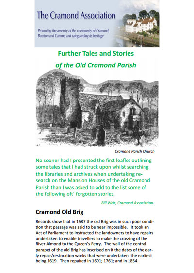 Further Tales and Stories of the Old Cramond Parish