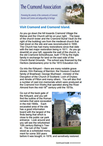 Visit Cramond and Cramond Island